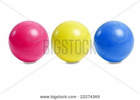 Colorful Plastic Soccer Balls