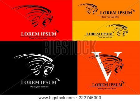 A set of Lion Head, combine with Text in various composition, can applied as corporate identity, mascot, symbol of the team, community etc.