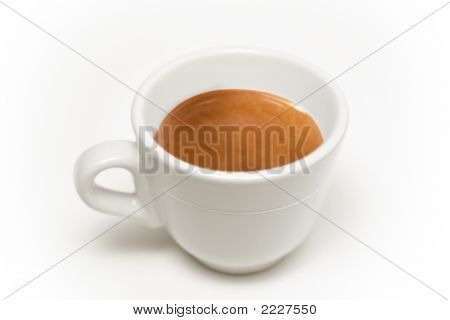 Italian Coffee Cup Cut-Out On White Background