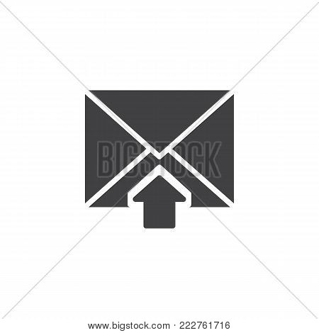 Postal envelope inbox icon vector, filled flat sign, solid pictogram isolated on white. Income mail symbol, logo illustration.