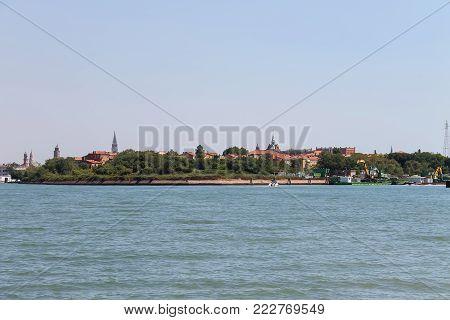 View of the Adriatic Sea near Vienice, Italy