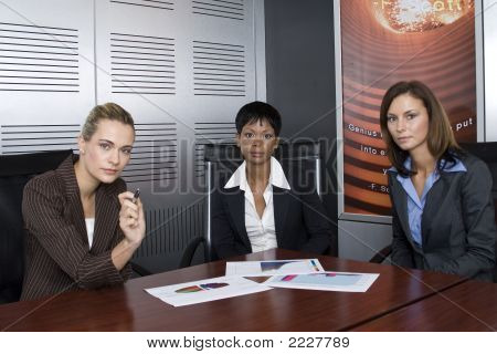 Three Female Business