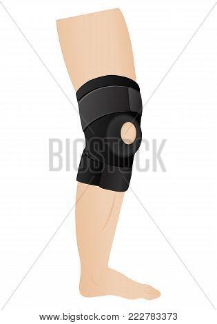 knee bandage vector illustration on a white background
