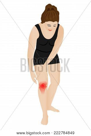 Knee pain because of injury vector illustration