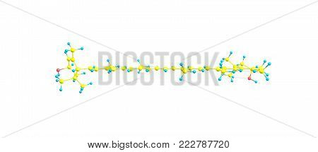 Lutein Molecular Structure Isolated On White