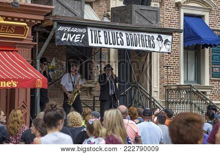 Orlando, Florida, Usa - November 3: Actors Imitate The Blues Brothers During Performance At Universa
