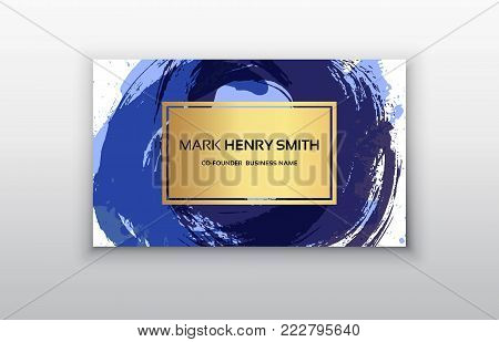 Vector business card. Luxury business card design.Vector Modern Creative and Clean Business Card Template.
