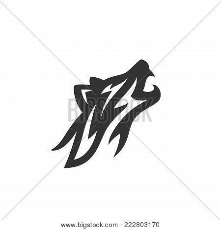 Wolf icon on white background. Fox vector logo. Wolf illustration isolated sign symbol
