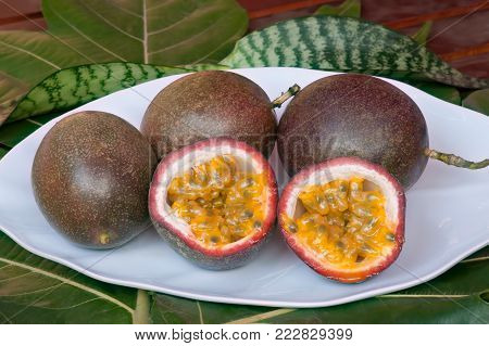 Photo tropical Passion fruit, which causes drowsiness