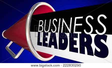 Business Leaders Megaphone Bullhorn Words 3d Illustration
