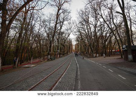 sunset promenade photo at the location called Platoul Cornesti / Somosteto in the town of Tirgu-Mures / Marosvasarhely