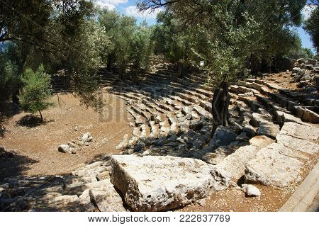 the remains of the ancient stone Roman amphitheatre. Roman heritage
