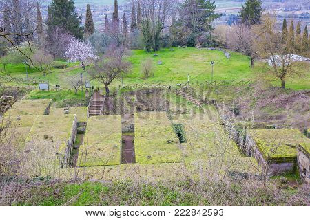 Necropolis of the Tuff crucifix can be seen from the ring of the cliff that winds around the town of Orvieto.