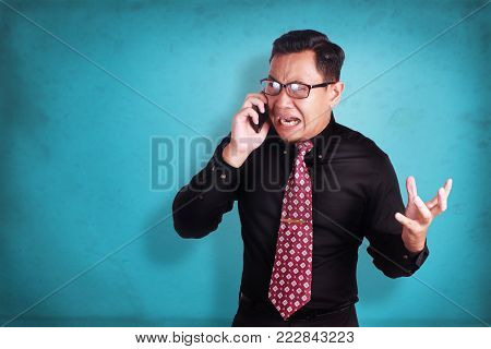 Young Man Shouting With Megaphone, Promotion Concept