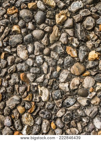 Abstract Background Texture Of Ugly Pebbledash Wall