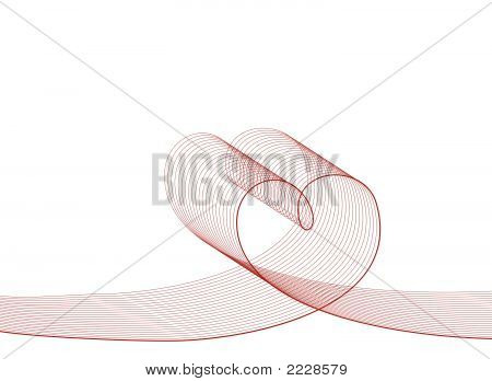 Love Lines Red On White (Vector) - Illustrated Background