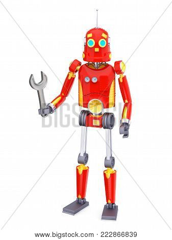 Vintage Retro Robot Wrench