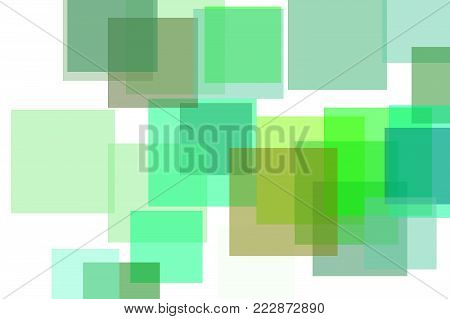 Abstract Green Rectangles Illustration Background