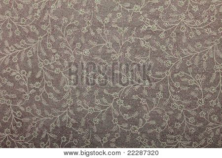 white pink handmade art paper with floral print