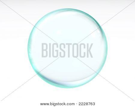 Blue Transparent Ball