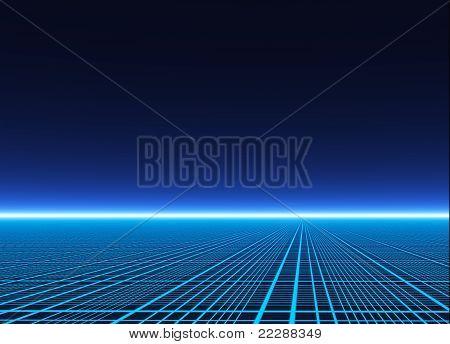 A Neon Grid Effect Backdrop