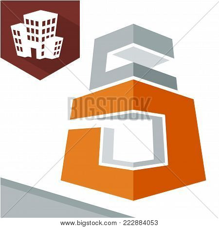 Icon logo initial for business development of construction services, with combination of letters D & C