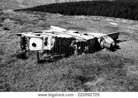 RAF crashed plane, campsie hills scotland meikle bin
