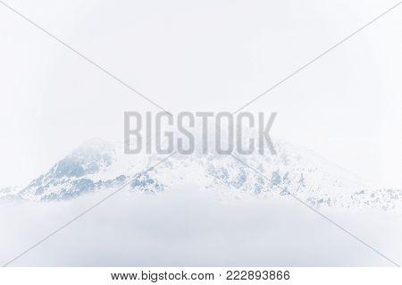 Snowy mountain, Sierra de Madrid, malicious area