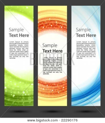 Abstract trendy vector banner vertical set eps 10