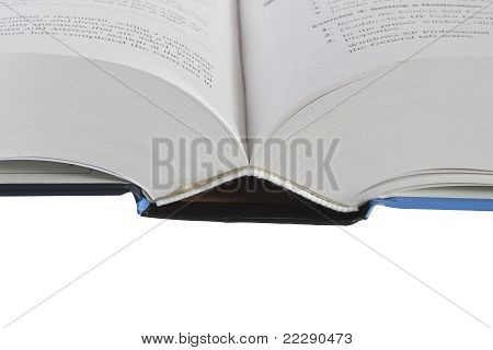 Open Book Showing Pages And Words