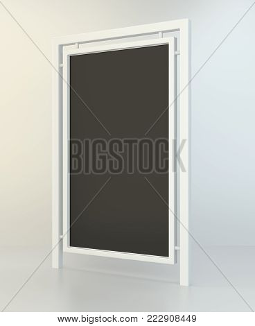 Outdoor advertising displays. Rolling poster display 3d Illustration. Advertising industry object. 3d illustration.