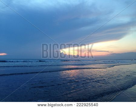 The Beautifull Sunset View From Kuta Bali