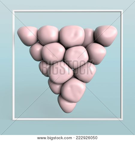 3d creative illustration abtract minimalistic geometric art. 3d rendering