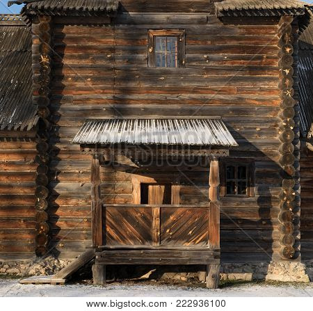 Traditional Russian Wooden Church Of The Resurrection From Village Of Patakino.