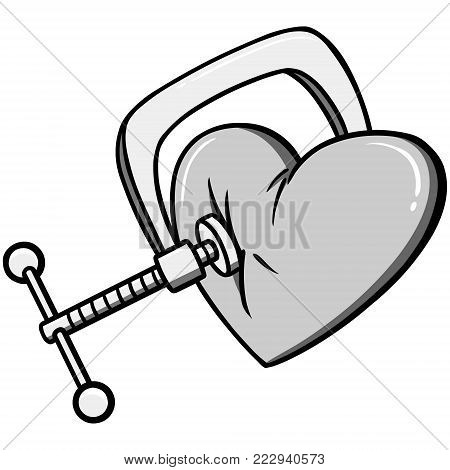 Chest Pain Illustration - A vector cartoon illustration of a Chest Pain concept.