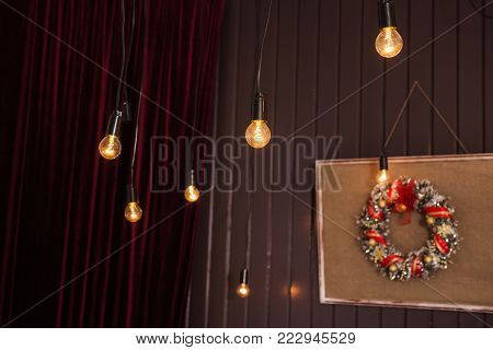 Festive New Year background. Christmas card. Celebrate the New Year. To celebrate Christmas. Celebrate the holiday. Greeting card with celebrate background. Celebrate background concept