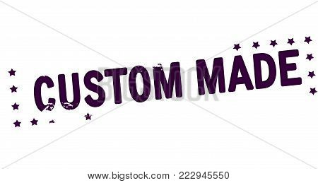 Rubber stamp with text customer made inside, vector illustration