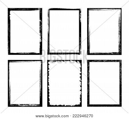 Grunge style frame - stock vector illustration.