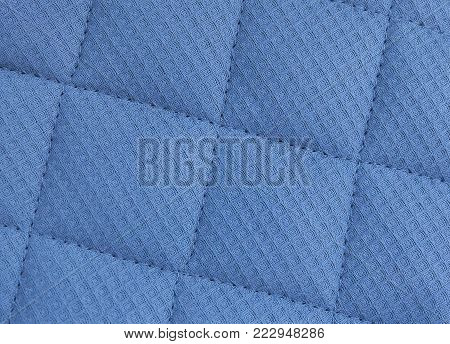 Background Pattern, Closed up of Abstract Texture of Blue Fabric Sofa or Upholstery.