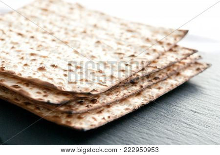 matzo flatbread for Jewish high holiday celebrations