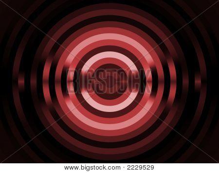 Fractal Abstact Background - Red Circular Stripes Design