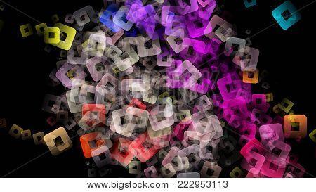 Abstract Square Background Design Illustration On Black