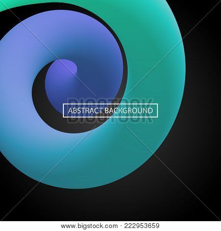 Abstract 3d liquid curve lines in vibrant color. Smooth gradient shapes. Vector artistic illustration with vibrant gradient flowing stream. Creativity concept. Visual communication poster design.