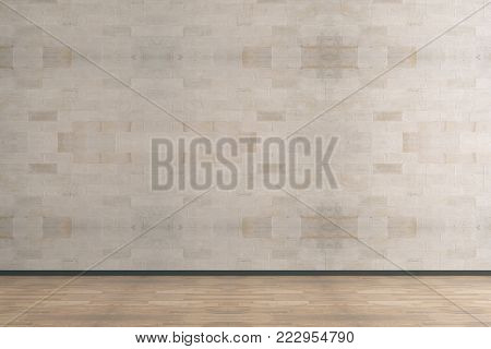 Modern Interior With Empty Wall