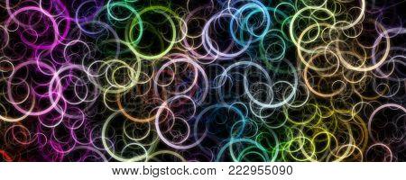 Fantastic elegant panorama circle background design illustration