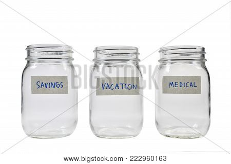 Image on concept of saving money for multiple purpose
