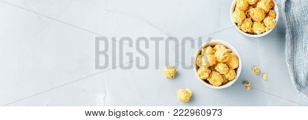 Sweet Caramel Popcorn For Party Or Cinema At Home