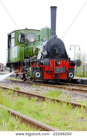 steam locomotive, Hoorn - Medemblik, Noord Holland, Netherlands poster