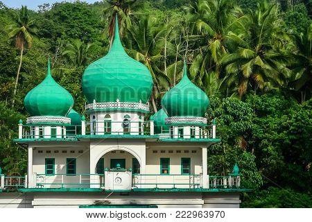 Small mosque in the jungle in Sumatra Island, Indonesia