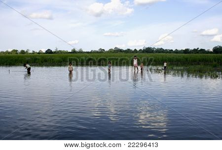 Amazon River Children Playing